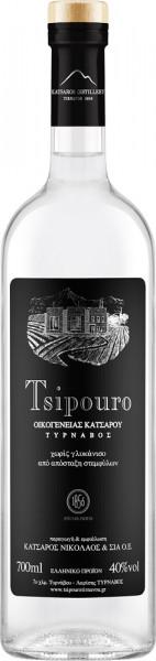 """Tsipouro ohne Anis """"Black Label"""" 700ml - 40% Vol. - Nikolaos Katsaros"""