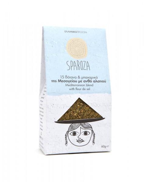 Mediterraner Mix Sparoza mit Fleur de Sel 60g Packung