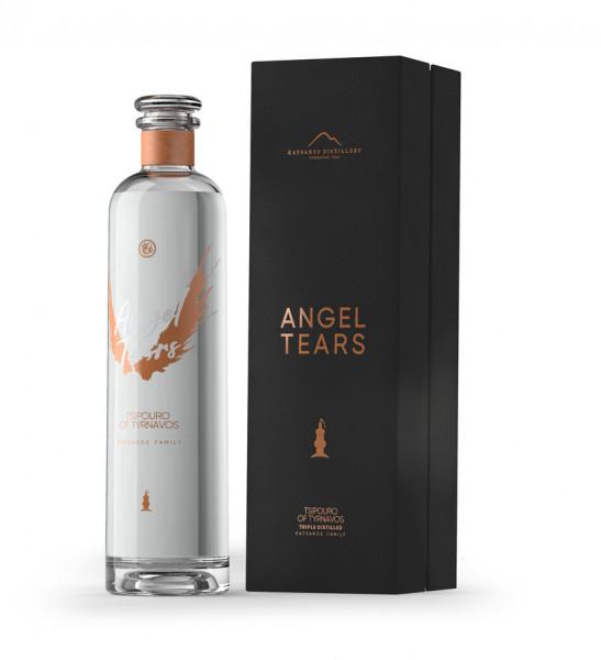 """Tsipouro """"Angel Tears"""" G-BOX 3-fach destilliert 700ml - 40% Vol. Katsaros"""