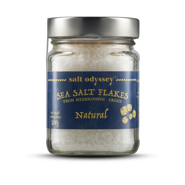 Salzflocken Natur 100g Glas Salt Odyssey