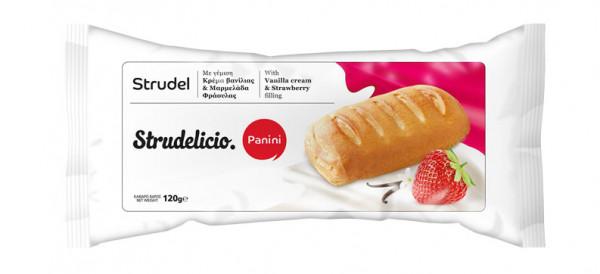 Strudelicio Vanille-Erdbeere 120g Panini