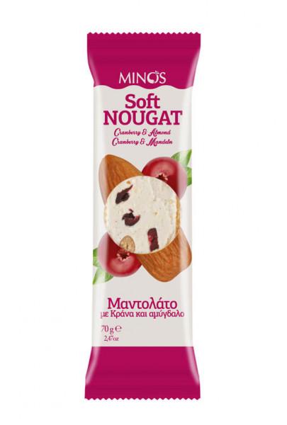 Soft Nougat mit Cranberry/Mandeln 70g Candia Nuts