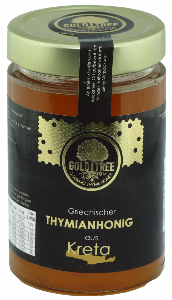 "Honig ""Kreta"" aus reinem Thymian 500g Glas GOLD TREE"