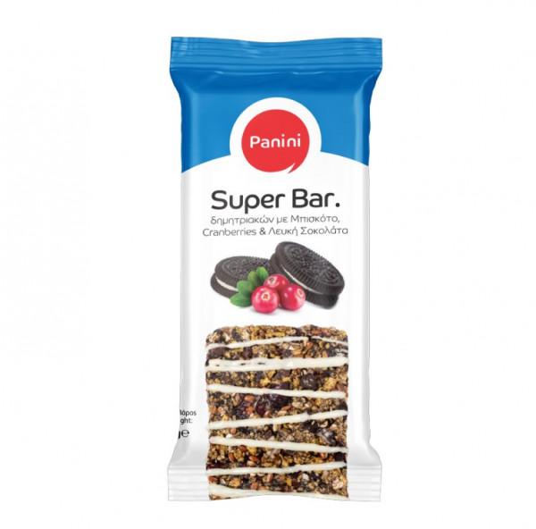 Super Bar Biscuits mit weißer Schokolade 70g Panini