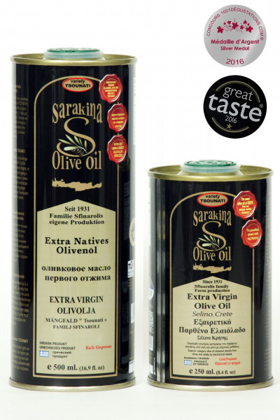 "Olivenöl ""Tsunato"" Sarakina 500ml Metall-Kanister"