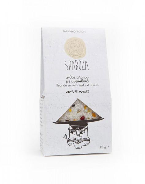 Fleur de Sel - Blume des Salzes mit Gewürzen Sparoza 100g Packung