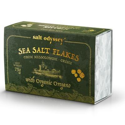 Salzflocken mit Oregano 75g Salt Odyssey