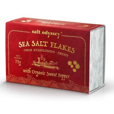 Salzflocken mit Paprika 75g Salt Odyssey