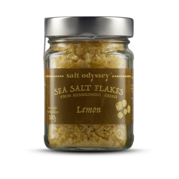 Salzflocken mit Zitrone 100g Glas Salt Odyssey