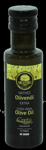 "Natives Olivenöl Extra aus Kreta ""GOLD TREE"" 100ml Dorica-Flasche"