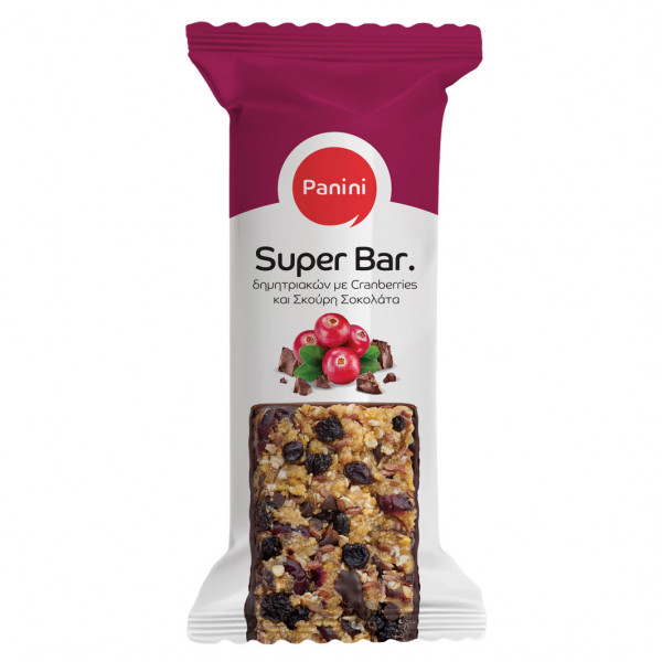 Super Bar Cranberries mit dunkler Schokolade 70g Panini