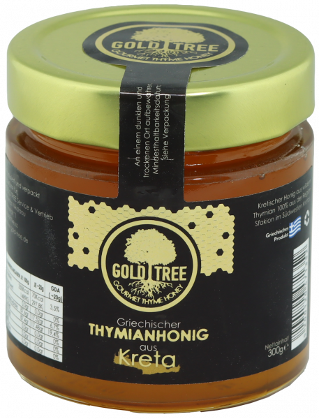"Honig ""Kreta"" aus reinem Thymian 300g Glas GOLD TREE"